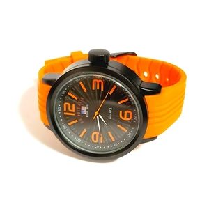 Men's U.S. Polo Assoc. Dial Rubber Strap Watch